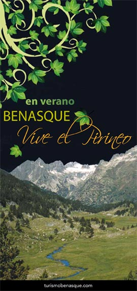 Folleto de temporada verano en Benasque